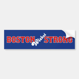 Boston 15 de abril de 2013 fuerte travieso etiqueta de parachoque