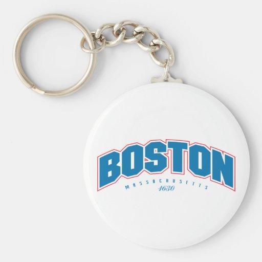 Boston 1630 basic round button keychain