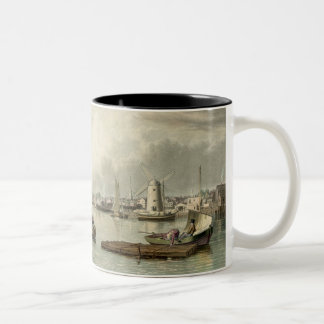 Boston - 1833, visto de Boston del sur Taza De Dos Tonos
