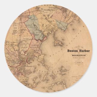 Boston 1861 classic round sticker