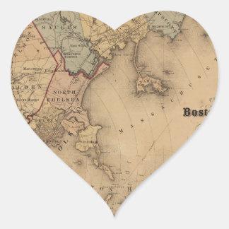 Boston 1861 heart sticker