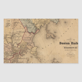 Boston 1861 rectangular sticker