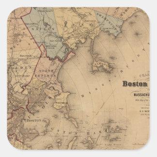 Boston 1861 square sticker