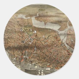 Boston 1898 round sticker