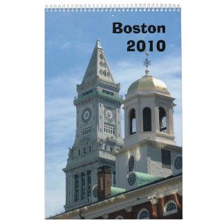 Boston 2010 calendario de pared