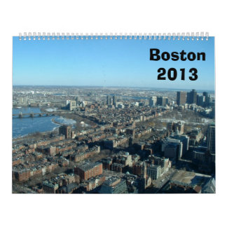 Boston 2013 calendar