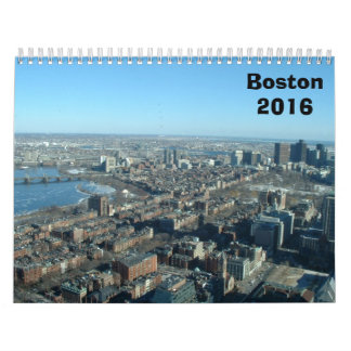 Boston 2016 calendar