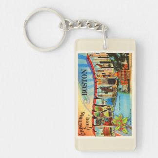 Boston #2 Massachusetts MA Vintage Travel Souvenir Keychain