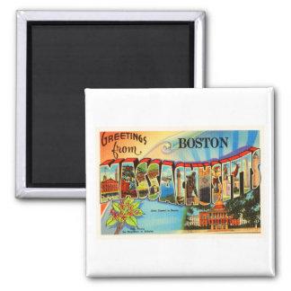 Boston #2 Massachusetts MA Vintage Travel Souvenir Magnet