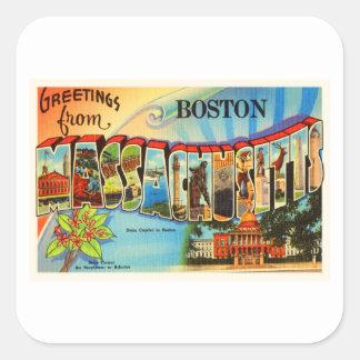 Boston #2 Massachusetts MA Vintage Travel Souvenir Square Sticker