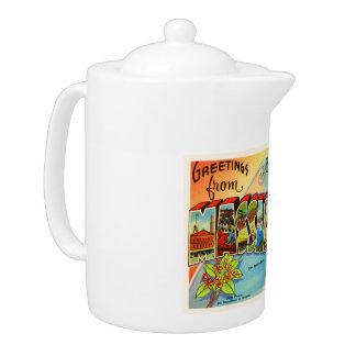 Boston #2 Massachusetts MA Vintage Travel Souvenir Teapot