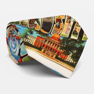 Boston #2 Massachusetts MA Vintage Travel Souvenir Tie
