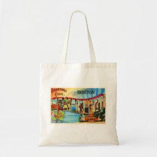Boston #2 Massachusetts MA Vintage Travel Souvenir Tote Bag
