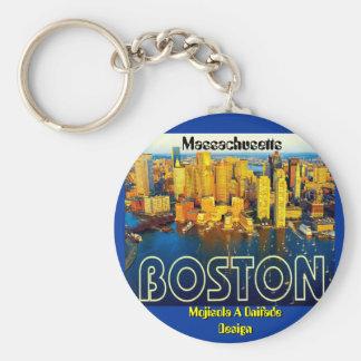 Boston 2, Massachusetts - modificado para requisit Llavero Redondo Tipo Pin
