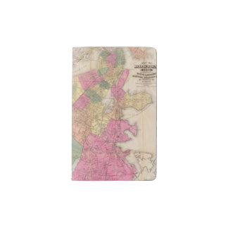 Boston 2 pocket moleskine notebook cover with notebook