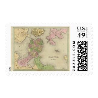 Boston 2 sellos postales