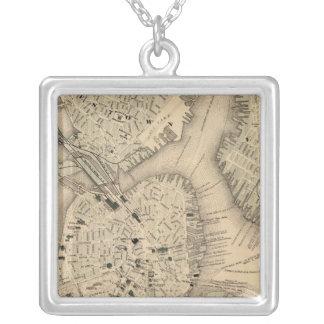 Boston 3 square pendant necklace
