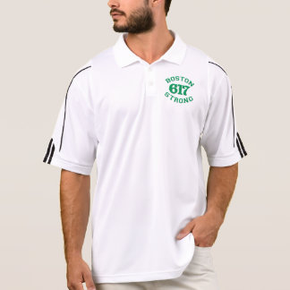 BOSTON 617 STRONG 3D Patch Polo Shirt
