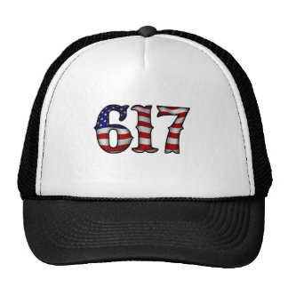 Boston 617 US Flag Trucker Hat