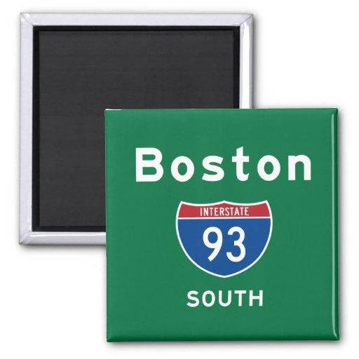 Boston 93 2 inch square magnet