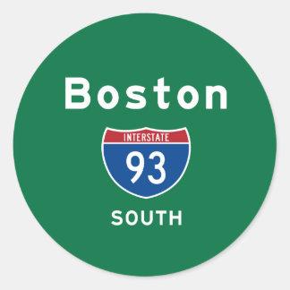 Boston 93 pegatina redonda