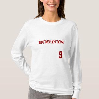 BOSTON #9 VINTAGE BASEBALL LADIES LONG SLEEVE T-Shirt