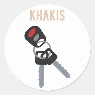 Boston Accent Car Keys Classic Round Sticker