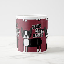 Boston Accent Terrier Pattern Large Coffee Mug