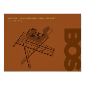 Boston Airport (BOS) Diagram Poster