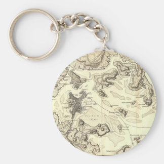Boston and Its Environs Circa 1800 Keychain