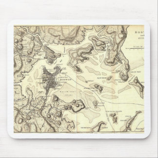 Boston and Its Environs Circa 1800 Mouse Pads