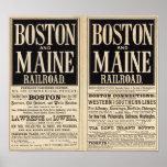 Boston and Maine Railroad Print