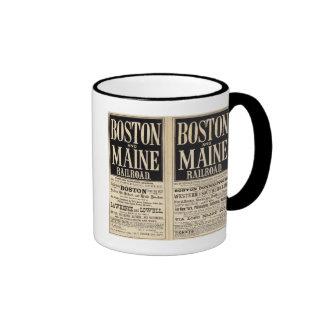 Boston and Maine Railroad Ringer Coffee Mug