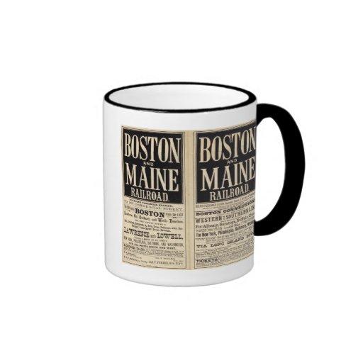Boston and Maine Railroad Ringer Mug