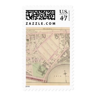Boston and Providence Rail Road Co yard Atlas Map Postage