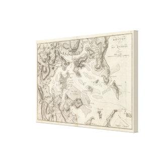Boston and Surrounding Area Canvas Print