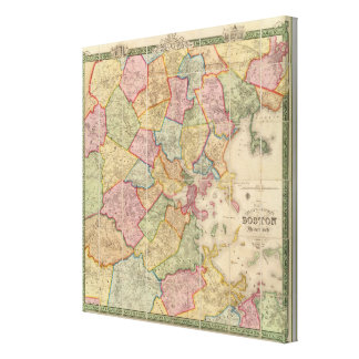 Boston and vicinity canvas prints