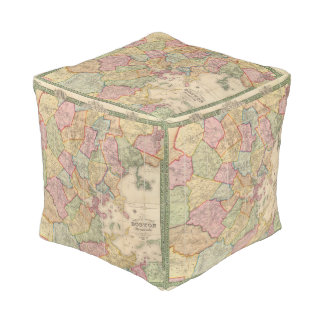 Boston and vicinity cube pouf
