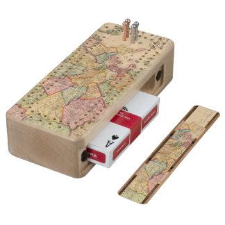 Boston and vicinity maple cribbage board