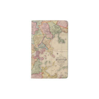 Boston and vicinity pocket moleskine notebook cover with notebook