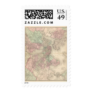 Boston and Vicinity Postage Stamp