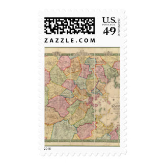 Boston and vicinity stamp