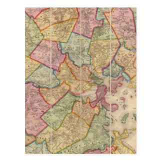 Boston and vicinity postcard