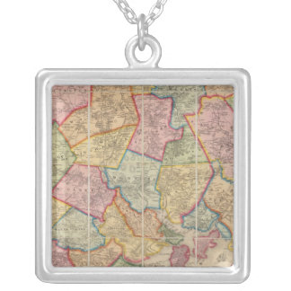 Boston and vicinity silver plated necklace