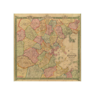 Boston and vicinity wood canvases