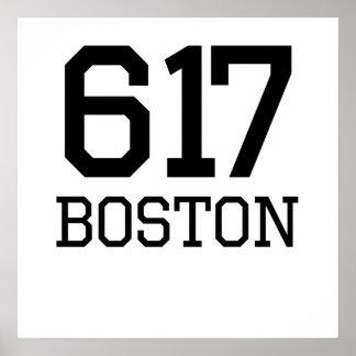 Boston Area Code 617 Posters