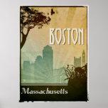 "Boston Art Deco Design City Poster artwork<br><div class=""desc"">A perfect retro travel poster for anyone in love with Boston Massachusetts</div>"