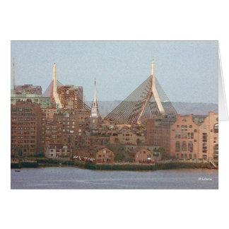 Boston art--invitaiton stationery note card