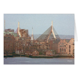 Boston art--thinking of you stationery note card