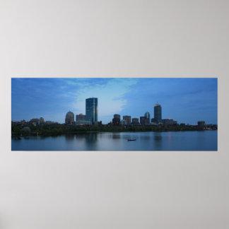 Boston At Dusk Poster
